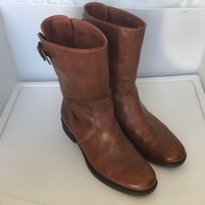 J.Crew leather mid calf boots Sz 9